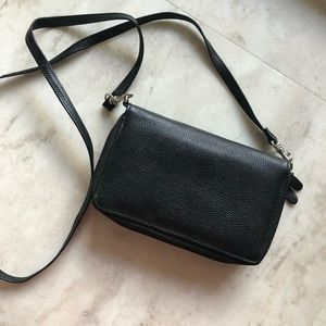 Vintage Black Wallet Satchel
